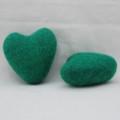 100% Wool Felt Heart - 6cm - Forest Green