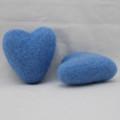 100% Wool Felt Heart - 6cm - French Blue