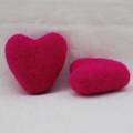 100% Wool Felt Heart - 6cm - Garden Rose Pink