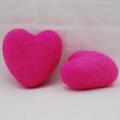 100% Wool Felt Heart - 6cm - Hot Pink