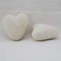 100% Wool Felt Heart - 6cm - Ivory White