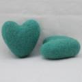 100% Wool Felt Heart - 6cm - Light Sea Green