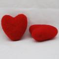 100% Wool Felt Heart - 6cm - Red