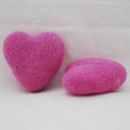 100% Wool Felt Heart - 6cm - Tulip Pink