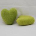 100% Wool Felt Heart - 6cm - Yellow Green