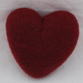 100% Wool Felt Heart - 10cm - Wine Red