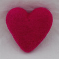 100% Wool Felt Heart - 10cm - Garden Rose Pink