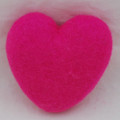 100% Wool Felt Heart - 10cm - Hot Pink