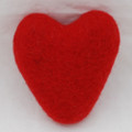 100% Wool Felt Heart - 10cm - Red