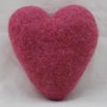 100% Wool Felt Heart - 10cm - Victorian Rose Pink