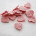 100% Wool Felt Heart Die Cut - 28mm - 10 Count - Dusty Rose Pink