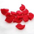 100% Wool Felt Bird Die Cut - 20mm x 30mm - 10 Count - Red