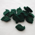 100% Wool Felt Bird Die Cut - 20mm x 30mm - 10 Count - Dark Green