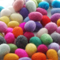 Assorted 100% Wool Felt Egg - 60 Count