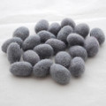 100% Wool Felt Egg - 10 Count - Battleship Grey