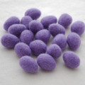 100% Wool Felt Egg - 10 Count - Lavender Purple