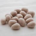 100% Wool Felt Egg - 10 Count - Light Latte