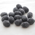 100% Wool Felt Egg - 10 Count - Natural Dark Grey