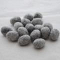 100% Wool Felt Egg - 10 Count - Natural Light Grey