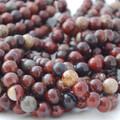 Semi-Precious Gemstone Poppy Jasper Round Beads 4mm, 6mm, 8mm, 10mm