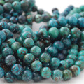Semi-Precious Gemstone Natural Genuine Turquoise Round Beads 4mm, 6mm, 8mm, 10mm