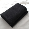 100% Wool Felt Fabric - Approx 1mm Thick - Black Mix - 45cm x 50cm