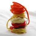 100% Wool Felt Cord - Handmade - Assorted Ivory Yellow Red Colours