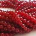Semi-Precious Gemstone Ruby Red Jade Round Beads 4mm, 6mm, 8mm, 10mm