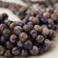 High Quality Grade A Natural Charoite Semi-precious Gemstone Round Beads - 4mm, 6mm, 8mm, 10mm