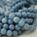 High Quality Grade A Natural Angelite (blue) Gemstone Round Beads 4, 6, 8, 10mm size