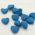 100% Wool Felt Hearts - 5 Count - Cerulean Blue