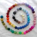 100% Wool Felt Balls - 72 Count - 4cm - 72 Colours