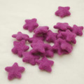 100% Wool Felt Stars - 5 Count - Amethyst Purple