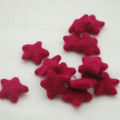 100% Wool Felt Stars - 5 Count - Azalea Pink