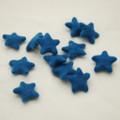 100% Wool Felt Stars - 5 Count - Cerulean Blue