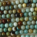 Semi-Precious Gemstone Multi - Colour Amazonite Round Beads 4mm, 6mm, 8mm, 10mm