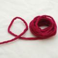 100% Wool Felt Cord - Handmade - 3 Metres - Azalea Pink