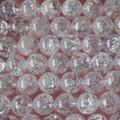 Semi-Precious Gemstone Crackle Crystal Quartz Round Beads 4mm, 6mm, 8mm, 10mm