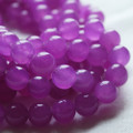 Purple Jade Round Beads 4mm, 6mm, 8mm ( dyed )