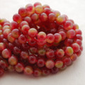 High Quality Watermelon Jade (dyed) Gemstone Round Beads 4, 6, 8, 10mm sizes