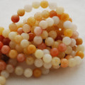 High Quality Grade A Natural Golden Jade Gemstone Round Beads 4, 6, 8, 10mm sizes
