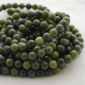 High Quality Grade A Natural Nephrite Jade Gemstone Round Beads 4, 6, 8, 10mm sizes