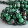 High Quality Grade A Natural Ruby Zoisite Gemstone Round Beads 4mm, 6mm, 8mm, 10mm sizes