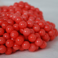 "16"" Natural Coral Round Beads Peach Orange"