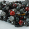 High Quality Grade A Natural African Blood Jasper Gemstone Round Beads 4, 6, 8, 10mm sizes