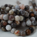 High Quality Grade A Natural Bamboo Leaf Jasper Gemstone Round Beads 4, 6, 8, 10mm sizes