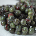 High Quality Grade A Natural Dragons Blood Jasper Gemstone Round Beads 4, 6, 8, 10mm sizes