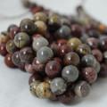 High Quality Grade A Natural Flower Jasper Gemstone Round Beads 4, 6, 8, 10mm sizes