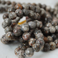 High Quality Grade A Natural Fossil Jasper Gemstone Round Beads 4, 6, 8, 10mm sizes
