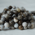 High Quality Grade A Natural Silver Leaf Jasper Gemstone Round Beads 4, 6, 8, 10mm sizes